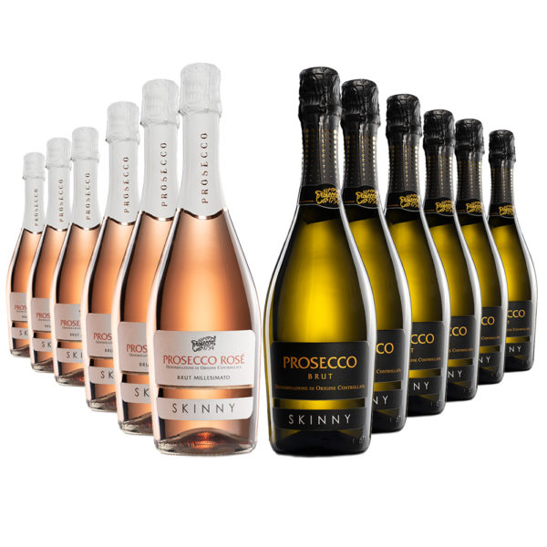 Mixed case of 12 Skinny and Rose Prosecco