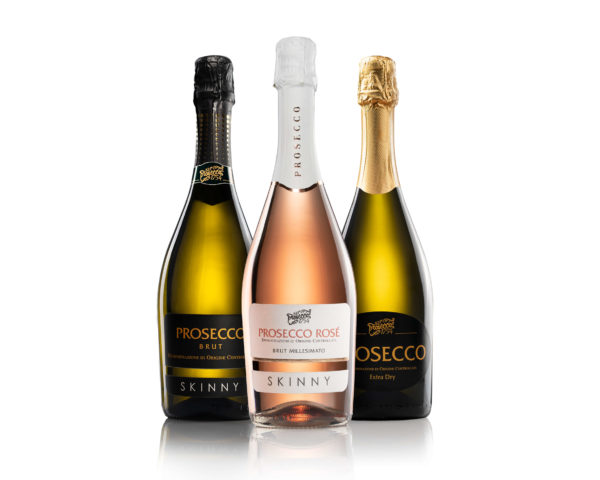 Mixed case of 3 Skinny, Standard and Rose Prosecco